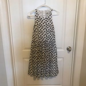 J. Crew Black and White Floral A Line Dress